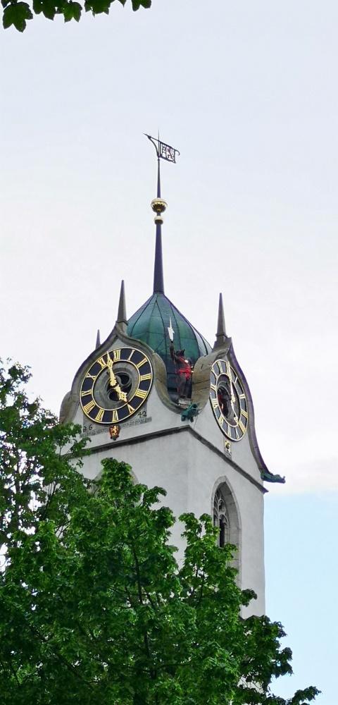Berner Spuren am Kirchturm