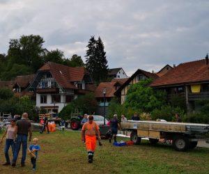 Zeltabbau des Festzelts vom Unterdorfmarkt 2018