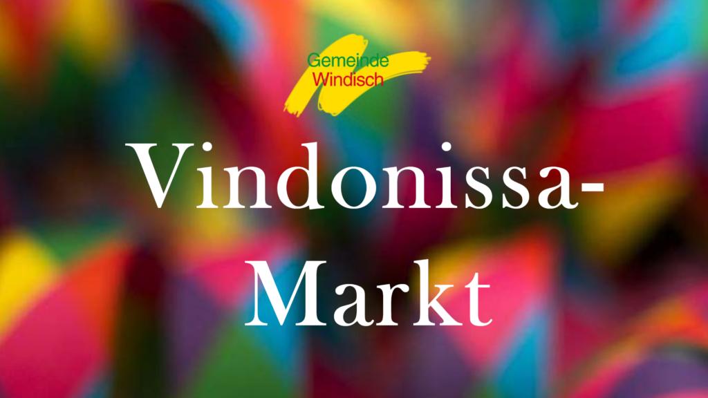 Flyer Vindonissa Markt, bunte Luftschlangen
