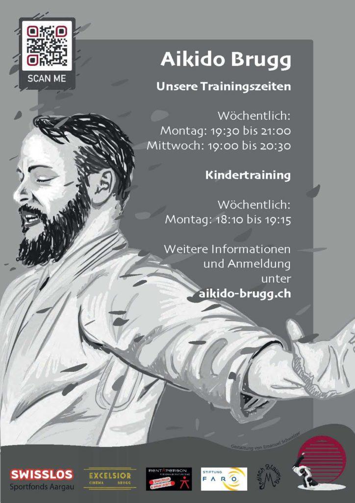 Plakat mit den Trainingszeiten und weiteren Infos